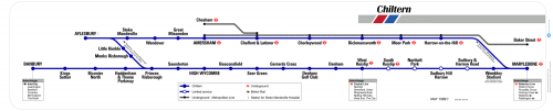 Chiltern Lines - Reproduction Carriage Map