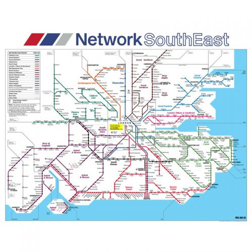 Network SouthEast - Reproduction Carriage Map
