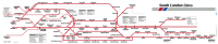 South London Lines - Reproduction Carriage Map