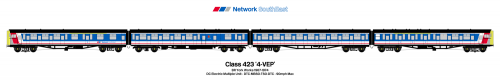 NSE Class 423 VEP Livery Print
