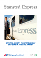Stansted Express Launch Leaflet Reproduction