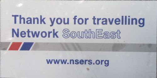 "Window Sticker ""Thank you for Travelling Network SouthEast"""