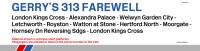 Class 313 Farewell - Window Destination Label