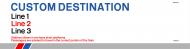 Custom Window Destination Label